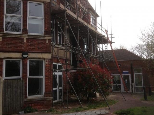 Installation of Scaffolding