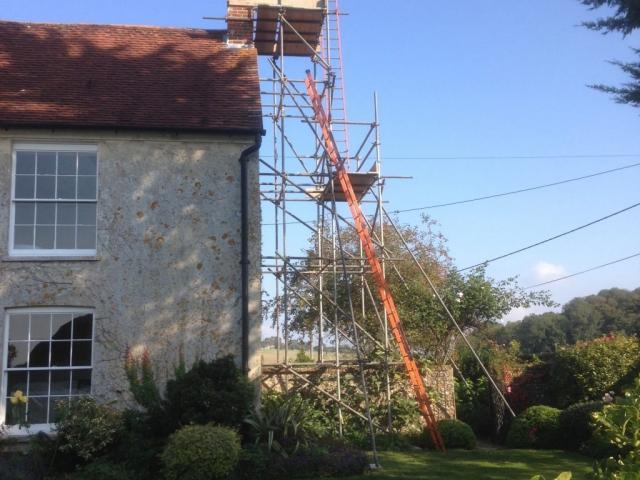 Scaffolding for Chimney Work