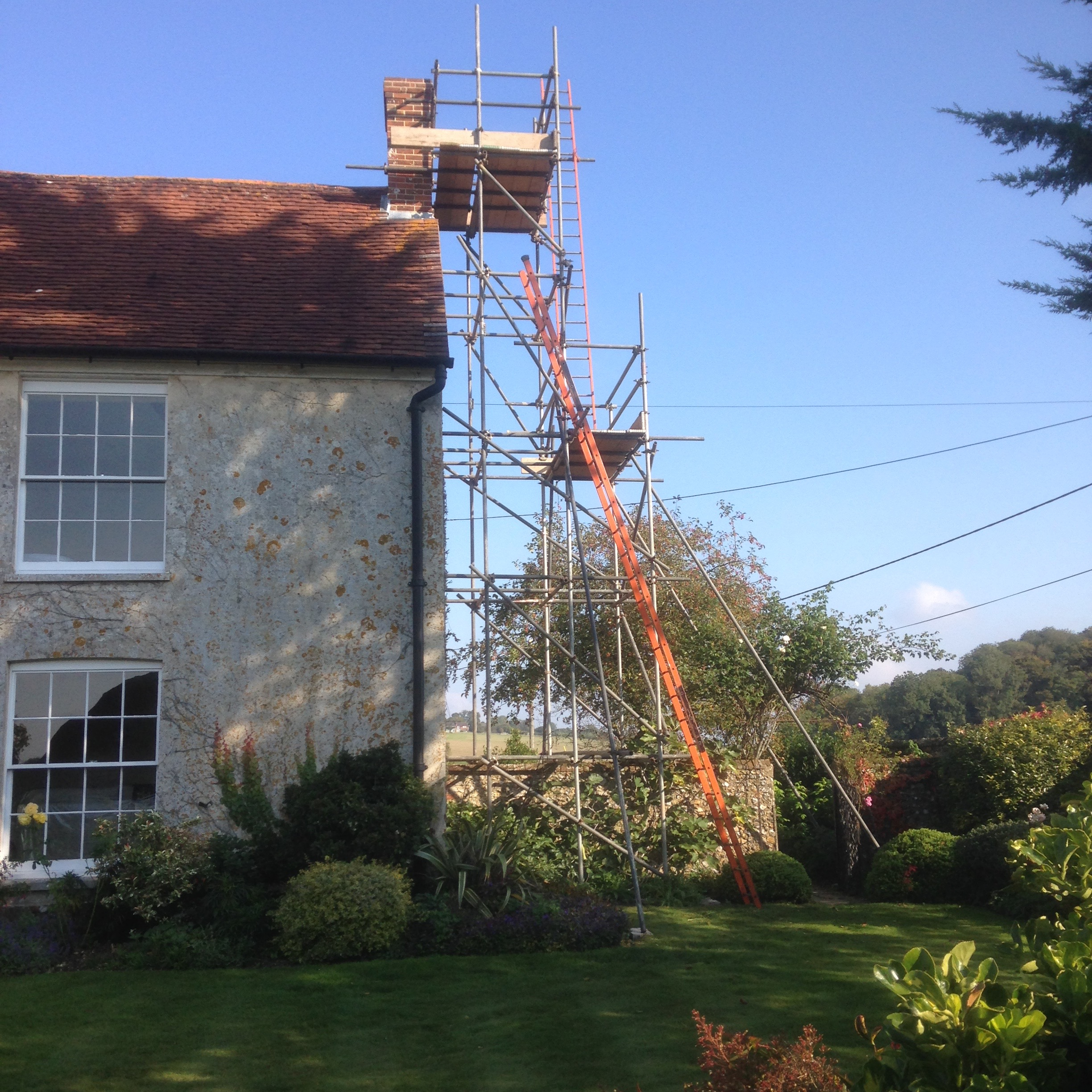 Scaffolding for Chimney Work