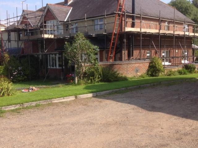 Scaffolding for Repair Work
